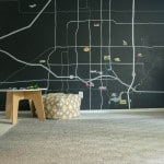 You kiddo will love this Magnetic Map Wall Mural! Find out how to DIY one yourself with this tutorial!