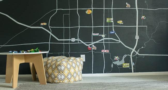 Magnetic Map Wall DIY