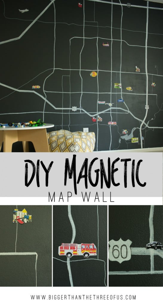 How to Make Your Own Customized Magnetic Map Wall