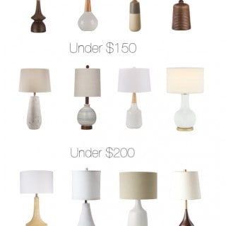 Modern Table Lamp Round-up