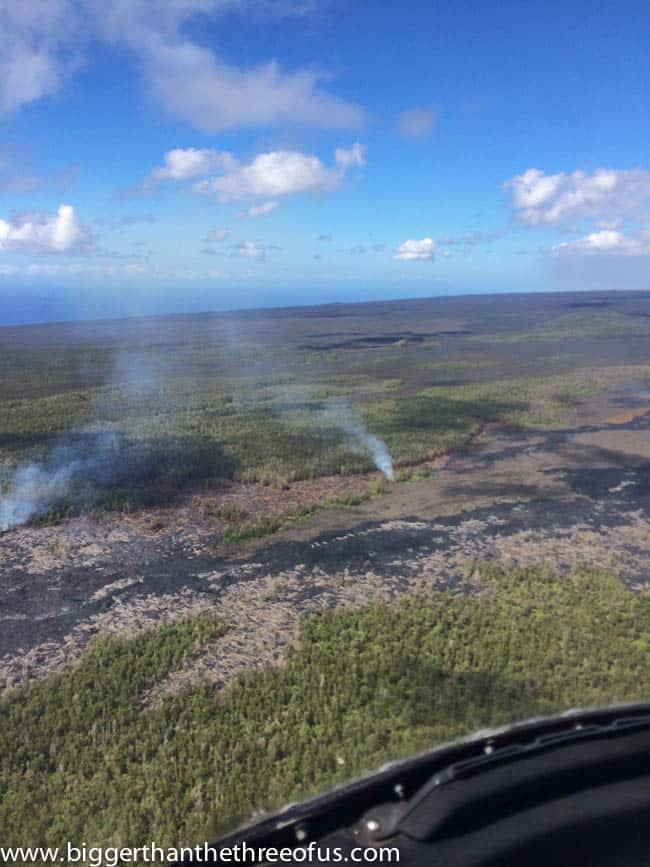 Helicopter Tour on the Big Island with a Toddler