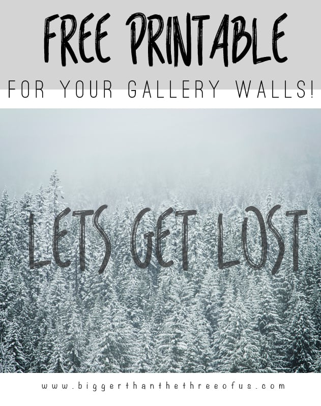 Free Adventure Printable