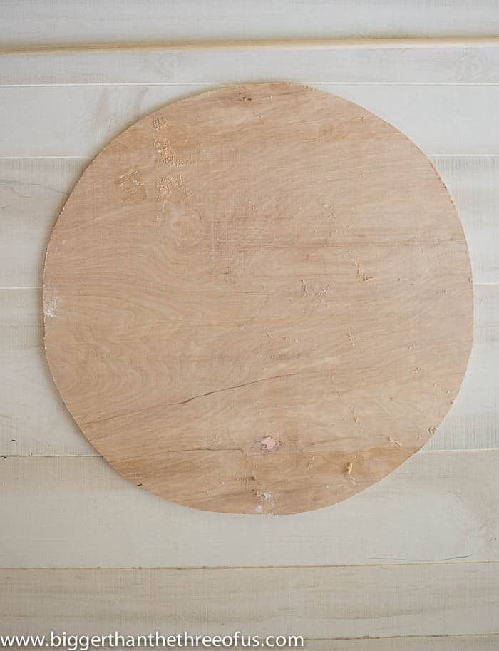 DIY Round Art Inspired by Crate and Barrel