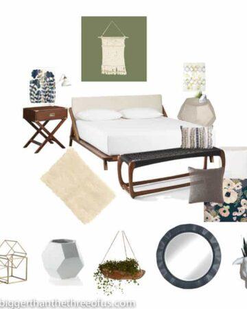 Eclectic modern bedroom