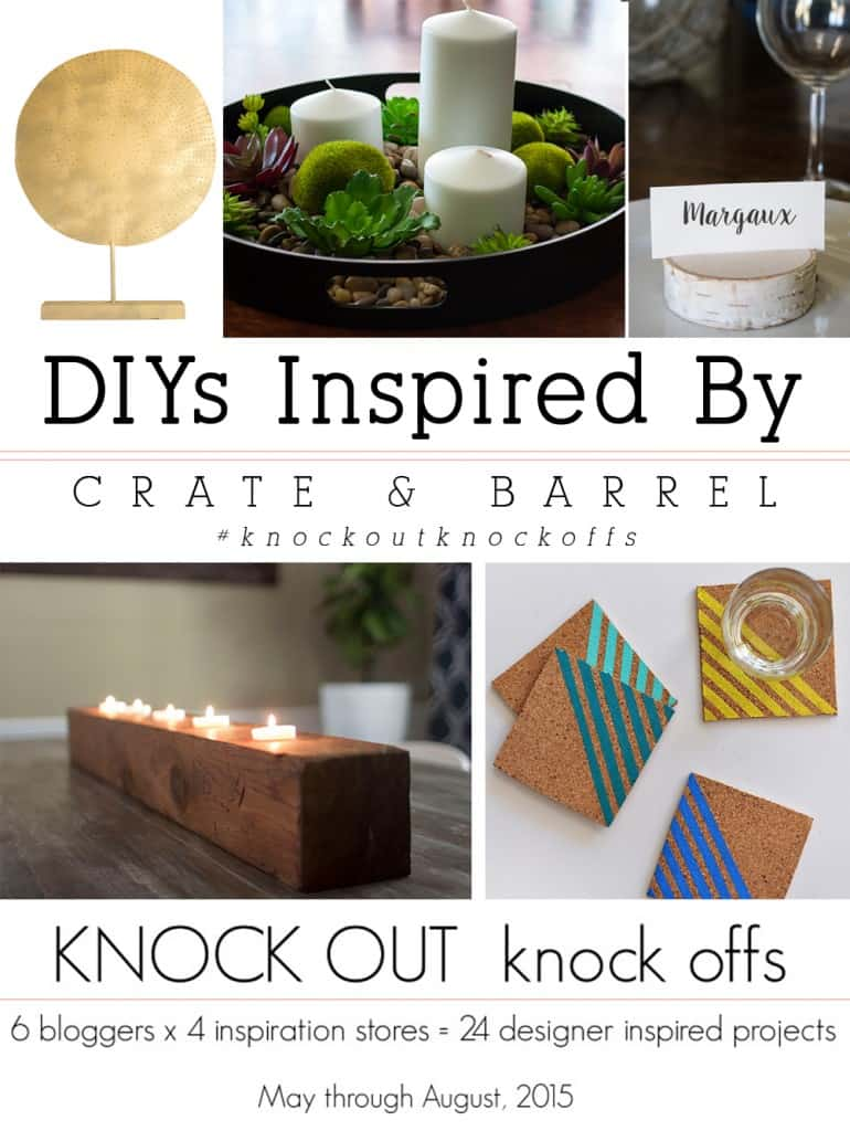 Try these 5 DIYS Inspired by Crate and Barrel
