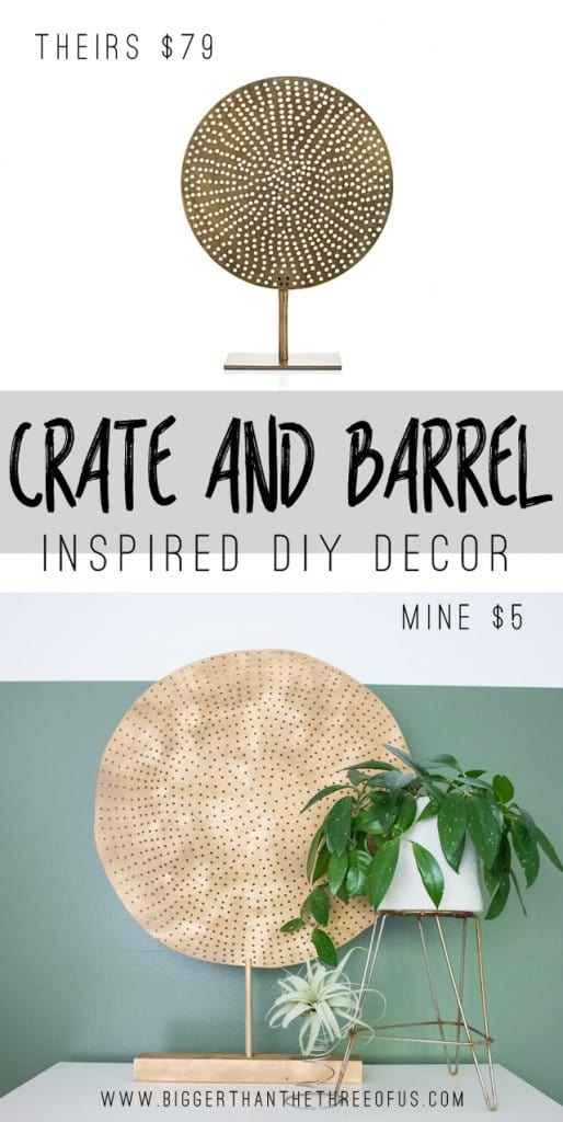 Make this art piece inspired by Crate and Barrel for a fraction of the cost!