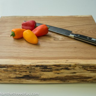 Want to make your own cutting board? Follow this step-by-step tutorial!