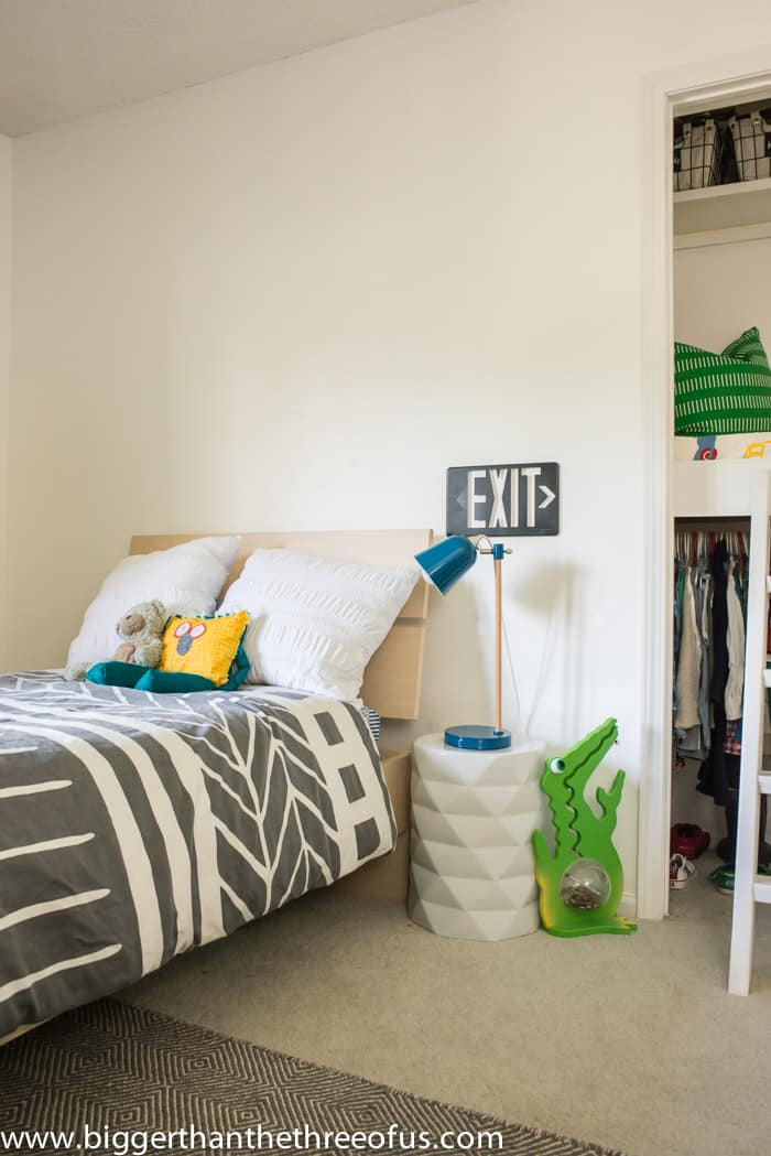 Check out this Modern and Bright Kid's Room with Lots of DIYs!
