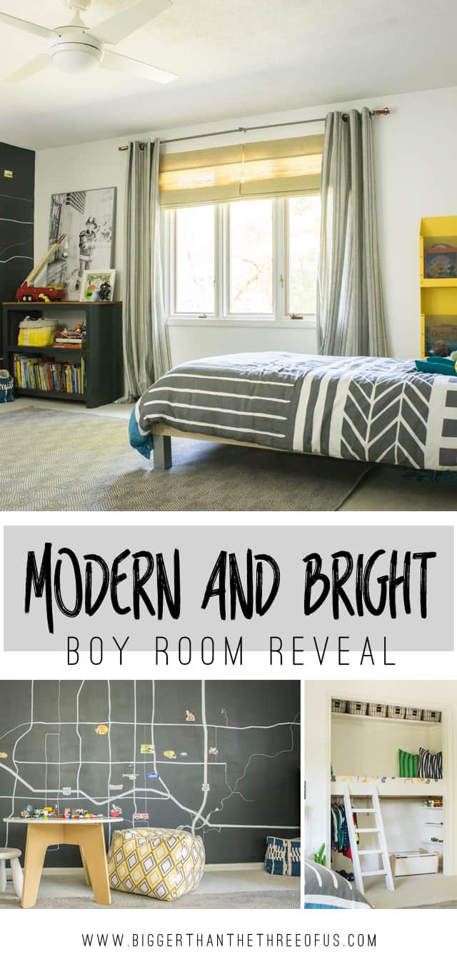 Modern Bedrooms For Boys Modern And Bright Boy Room Reveal