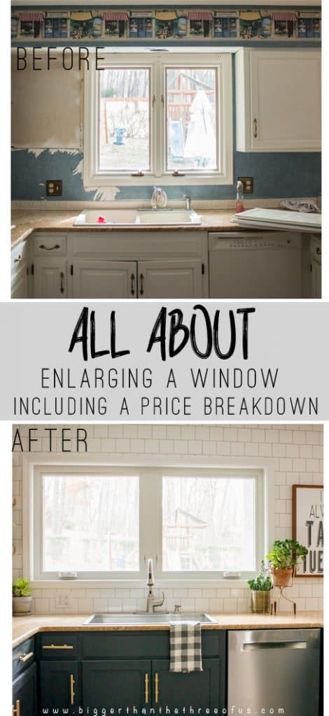Are you thinking about enlarging an outside window? Not sure what it would cost? See the price breakdown and hear our thoughts on ours!