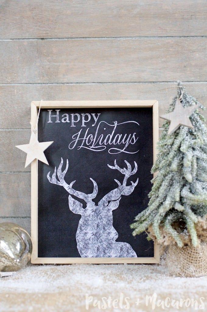 Chalkboard Christmas Free Printable