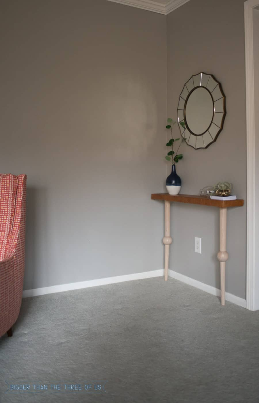 Make this leather topped console table in just a few easy steps!