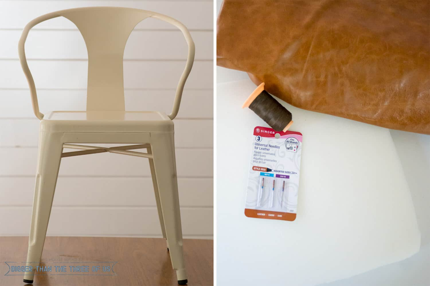 DIY Leather Chair Cushion