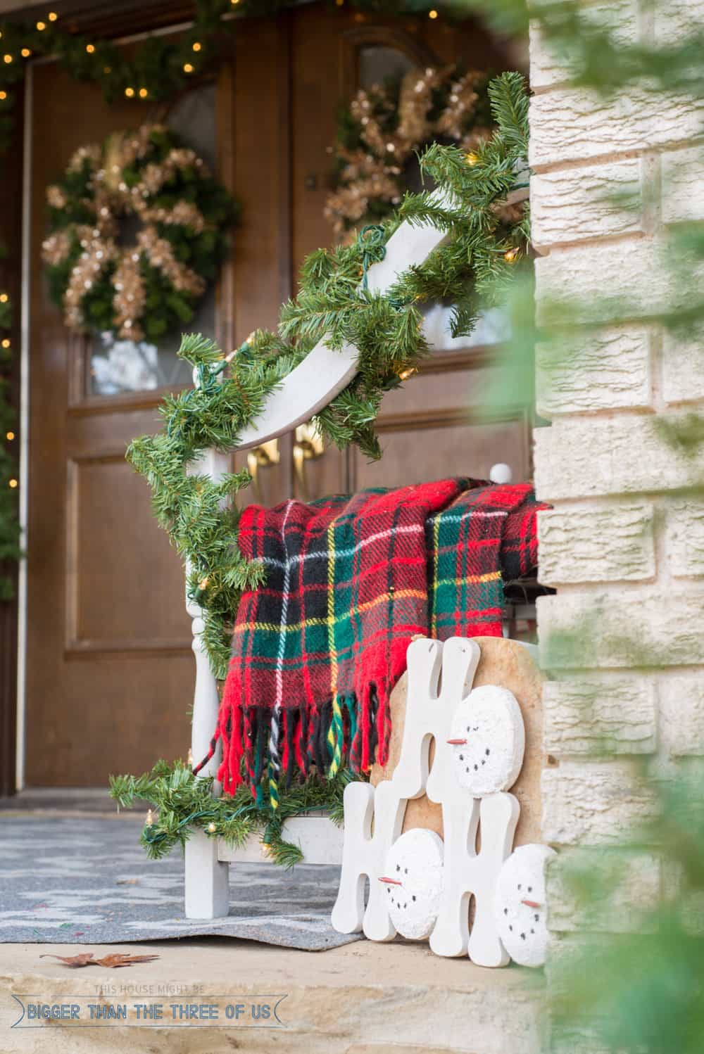 decorating your front porch for christmas bigger than the three of us. Black Bedroom Furniture Sets. Home Design Ideas