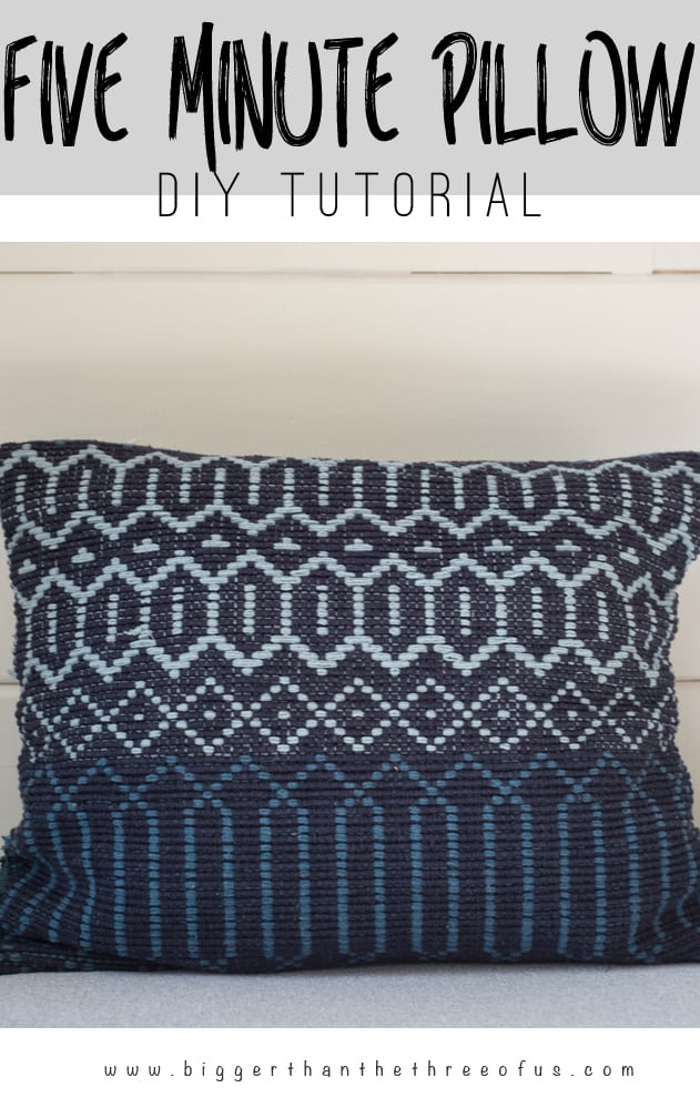 Make a pillow out of a rug in a few easy steps!