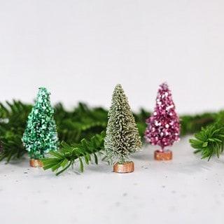 Glitter bottle brush tree