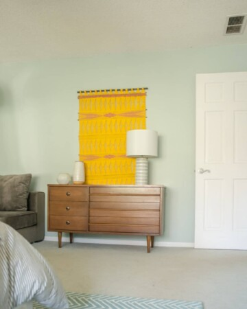 Mid-Century Wall Hanging for the Master Bedroom