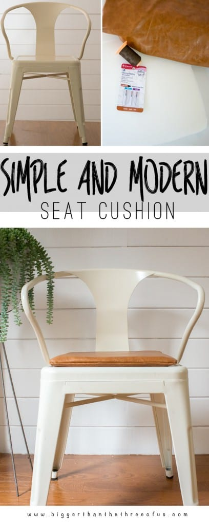 Modern and Fast DIY Seat Cushion
