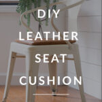 DIY Leather Chair pads
