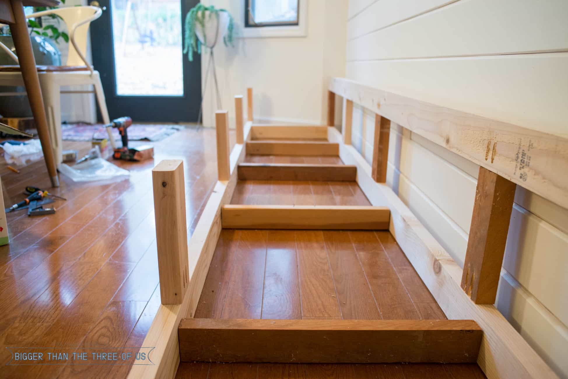 Built in banquette tutorial bigger than the three of us - Kitchen bench designs ...
