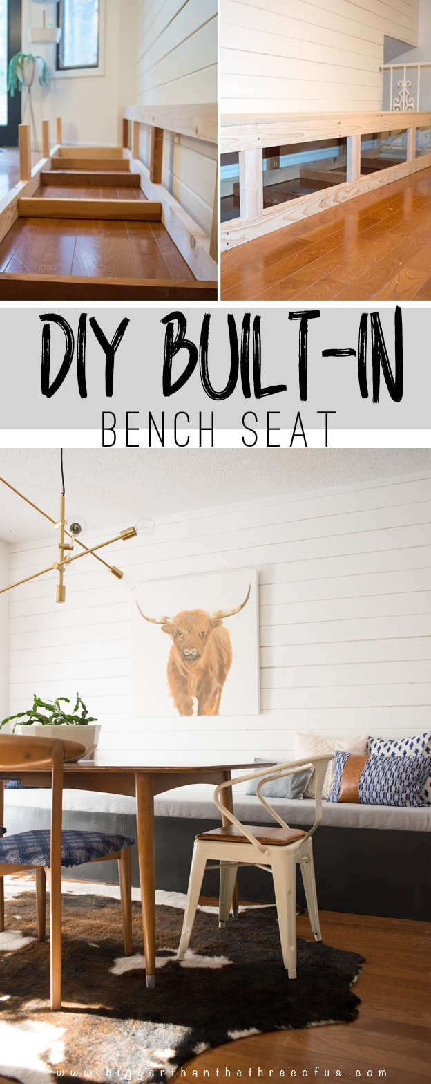 DIY Built-In Banquette Tutorial with step by step instructions for building