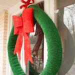 Failed Astro Turf Christmas Wreath DIY