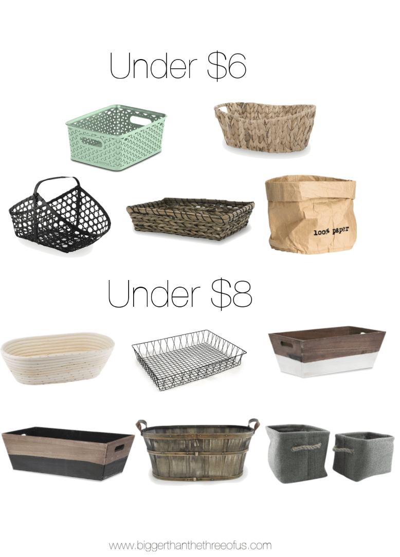 Great affordable storage basket options