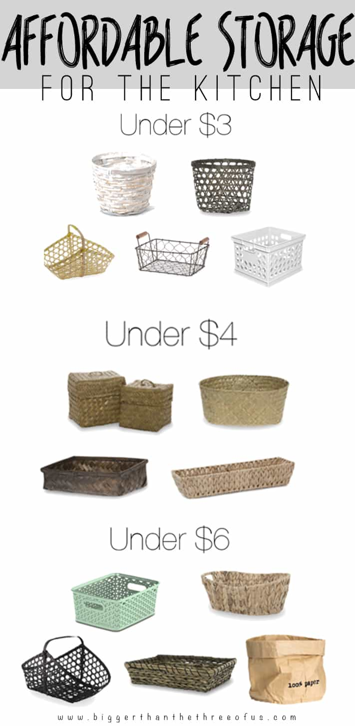 Organize your kitchen with these affordable storage options!