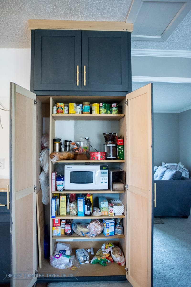 Custom built pantry DIY