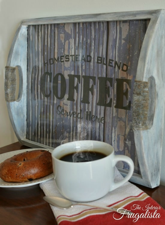DIY Repurposed Coffee Tray