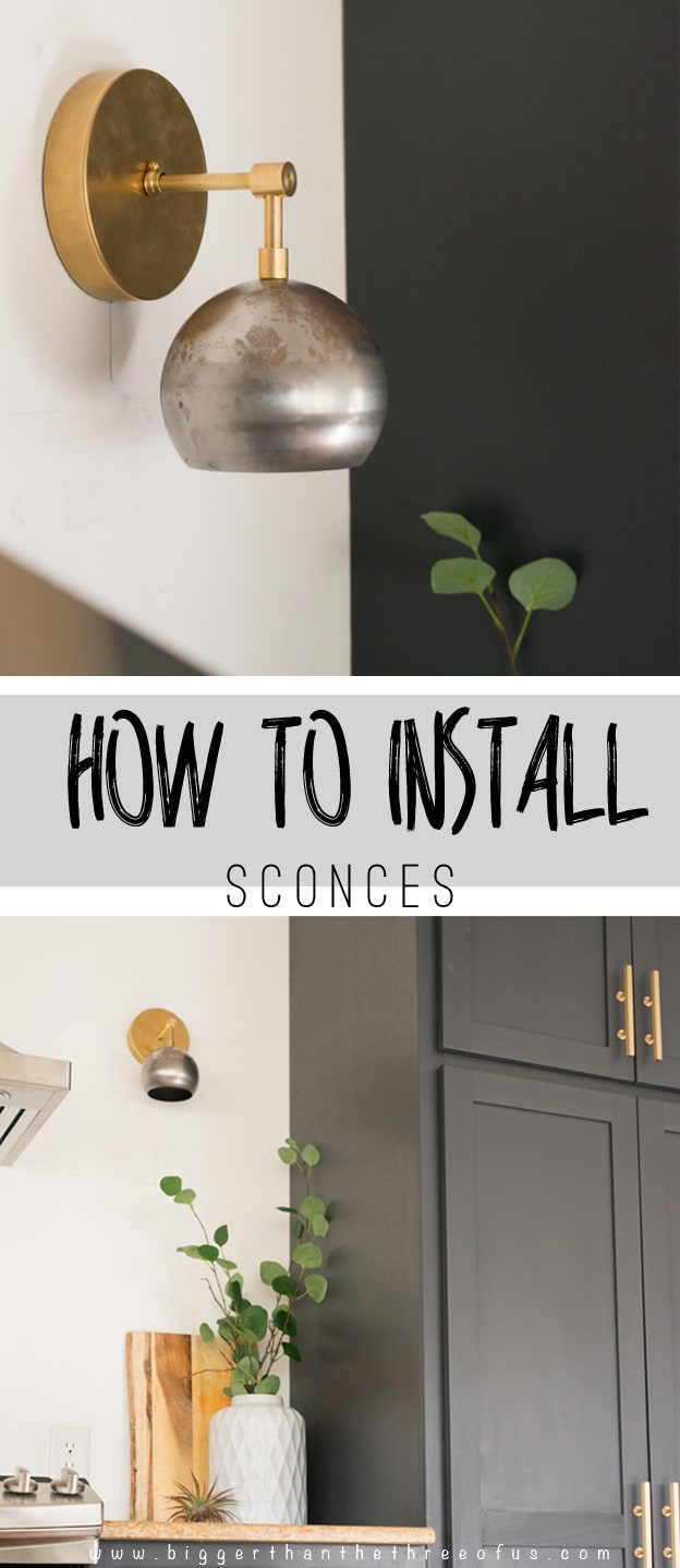 Use this tutorial as a guide for installing sconces in your kitchen!