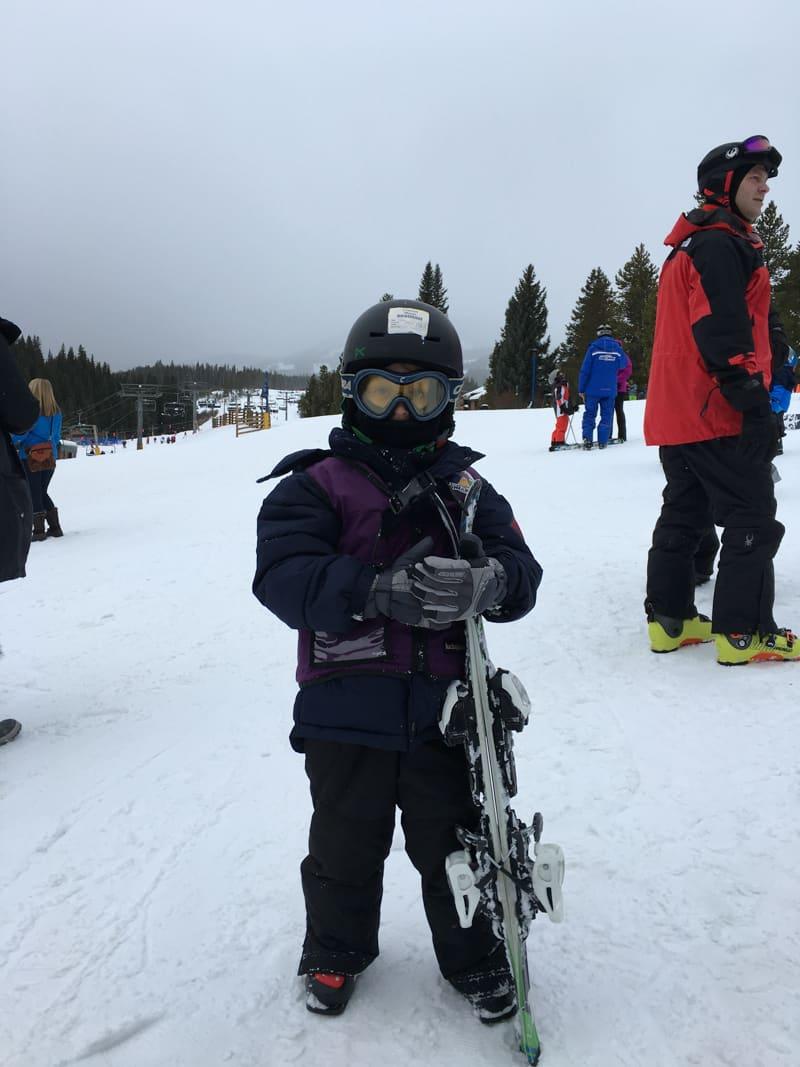 Five Year On Ski Trip