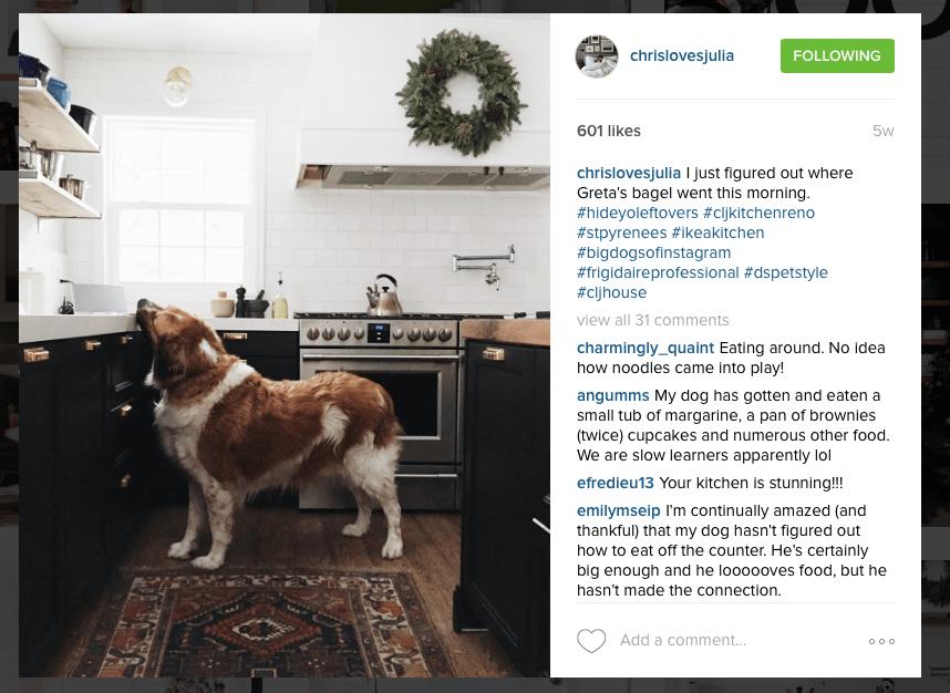 Instagram - Chris Loves Julia