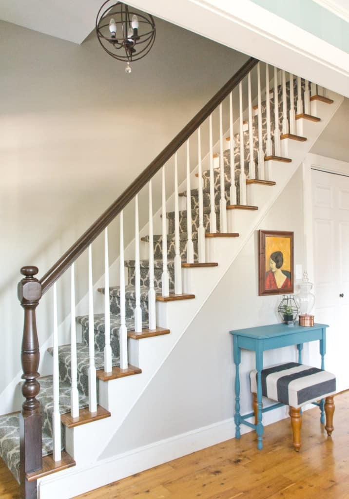Use multiple runners to make one long stair runner using this tutorial!