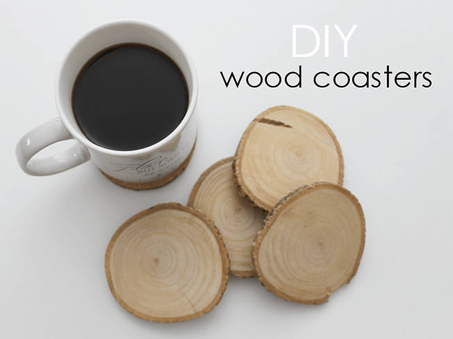 Make these wood coasters in just a few minutes!