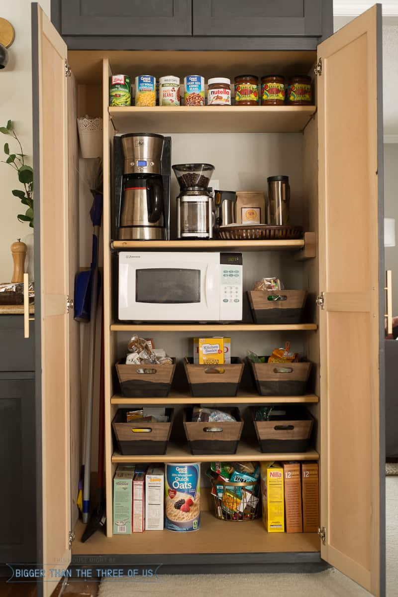DIY Coffee Station within a Pantry