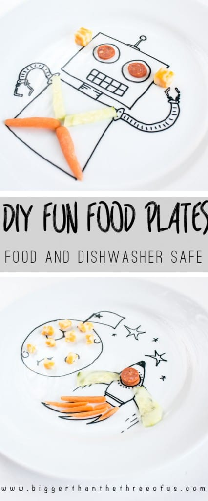 Your kiddos will love this DIY project - food safe and dishwasher safe plates!