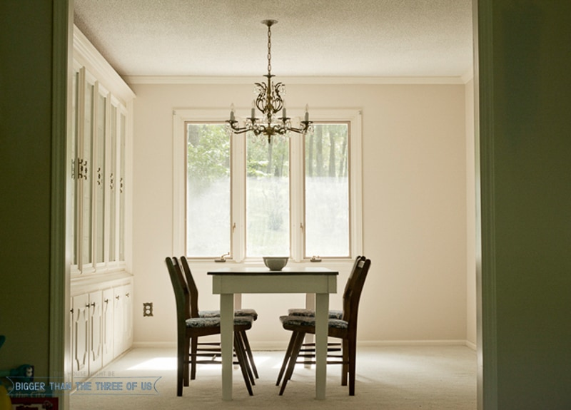 formal dining room with built-ins