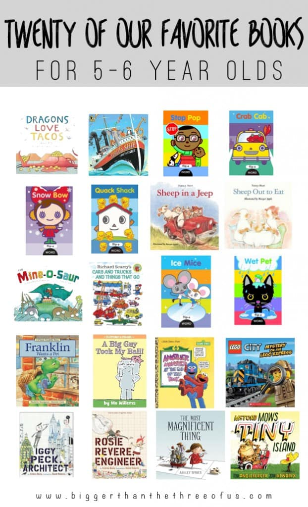 Favorite books for five to six year olds