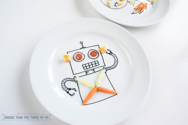 DIY Personalized Food Safe and Dishwasher Safe Plates! The kiddos will love them!