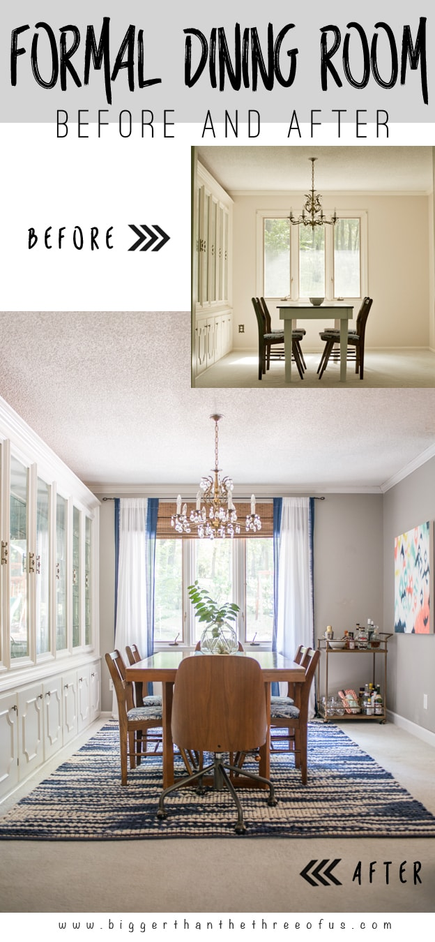 Before and After Formal Dining Room Reveal