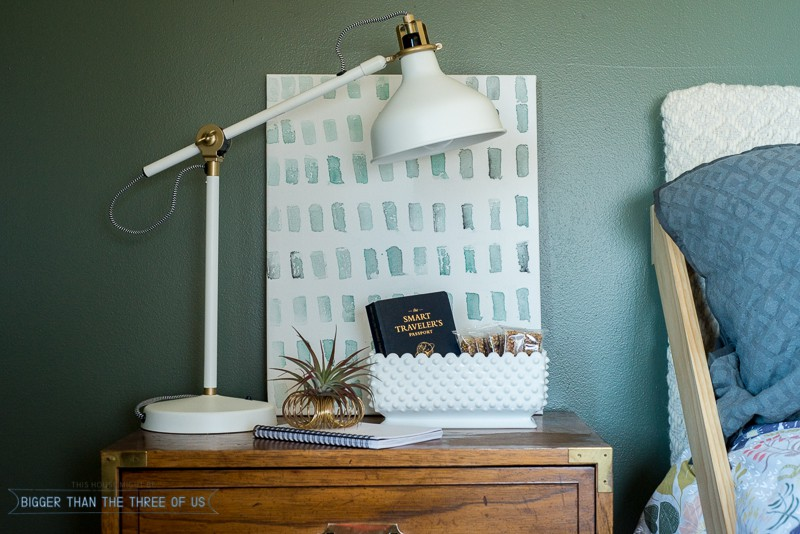 How To Style A Nightstand For A Guest Room