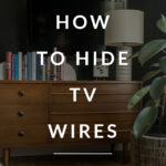 Hiding TV Wires in a bedroom