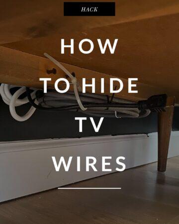 TV cable organization under dresser
