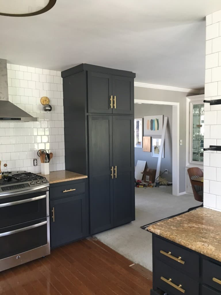 kitchen with new ceiling