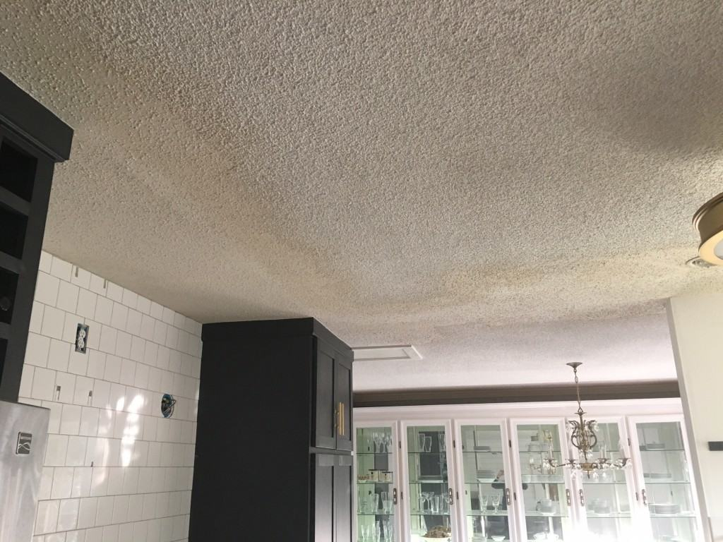 Sprayed Popcorn Ceiling Texture and details on removing asbestos drywall