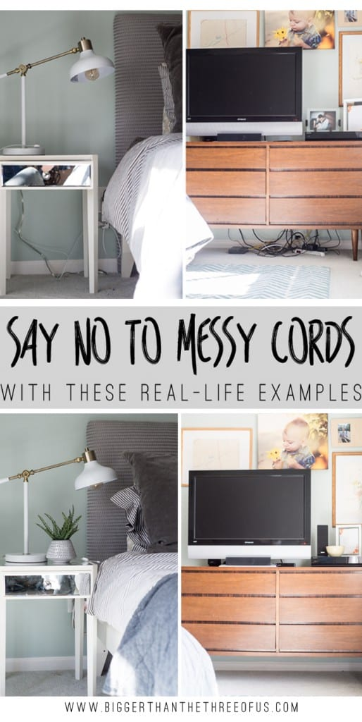 Learn how to get rid of those pesky cords so that you have beautifully styled nightstands!