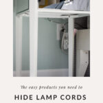 How to hide lamp cords in a bedroom