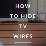 Hiding Cords with TV how to