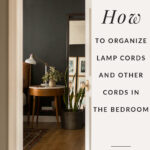 Bedside table lamp organization